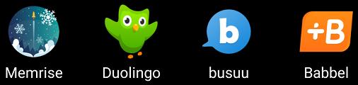 Icons meiner Sprachapps
