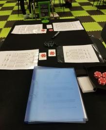 Der Tischaufbau