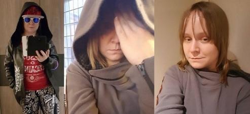 LARP Charactere: Links: Jordan Doyle  Mitte + Rechts: Natasha Wolf
