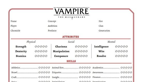 Vorschaubild auf den Charakterbogen von Markus W.